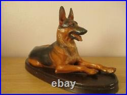 11 Vintage Helmut Diller Signed German Shepherd Alsatian Dog Anri Wood Carving