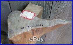 15 Mid Century Modern Vintage 1967 Walnut Wood Waitz Sculpture Candelabra