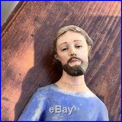 19th Century Vintage Spanish Colonial Wood Santo Saint Sculpture