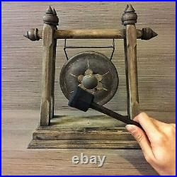 20 Vintage Gong Thai Temple Stand Carving Meditation Nice Therapy Handmade Deco