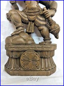 2ft Hanuman Sculpture Statue Hindu Temple Monkey God Idol Vintage Figurine