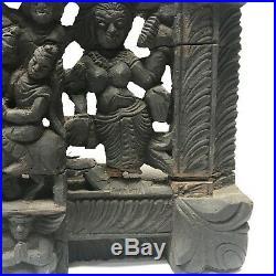 34 (87cm) India Hindu Epic Wall Hanging Hand Carved Wood Vintage Antique Art