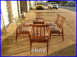 6 Stylish Sculptural Danish MID Century Modern Exaggerated Back Dining Chairs