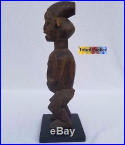 A VINTAGE Yaka Bayaka Figure Sculpture Statue Mask Tribal African Art
