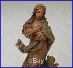 ANRI vintage MADONNA CHERUBS ASSUMPTION' wood carving