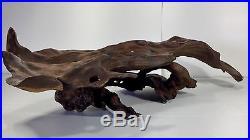 Amazing VTG Midcentury Wood Sculpture Wildlife Display Mantle Centerpiece Art