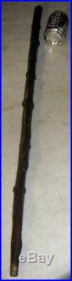 Antique Burl Knot Dark Hard Wood Man Sculpture Art Walking Stick Cane Staff Tool