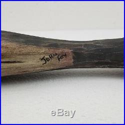 Antique Hand Carved Wood Fish Carving Folk Art Primitive Vintage 32 Long Signed