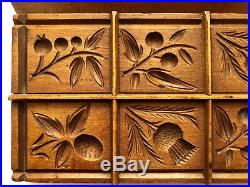 Antique Vintage Butter Mold. Exquisite Hand Carving. English Butter Print Mold