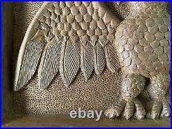 Antique/Vintage Folk Art Primitive Wood Carved Patriotic Eagle Plaque
