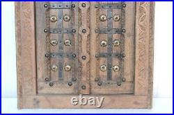 Antique Vintage Hand Carved Wooden Window Wall Hanging Frame Door Panel BM-88