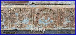 Antique Vintage Wood Carving Indian Decorative Architectural 148cm Long