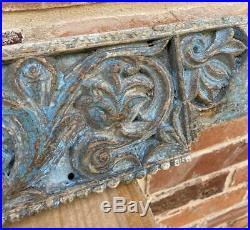 Antique Vintage Wood Carving Indian Ganesh Decorative Architectural