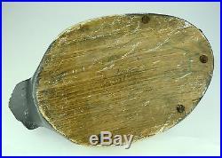 Antique or Vintage Solid Wood Decoy Duck Canvasback Hunting Carving Folk Art Old