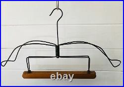 Antique vtg Twisted WIRE + Wood Clothes Suit HANGER abstract sculpture rare coat