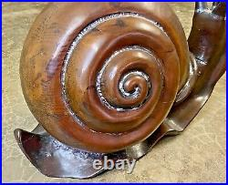 Armijo Vtg Mid Century Modern Carved Wood Snail Sculptural Side Table Sarreid