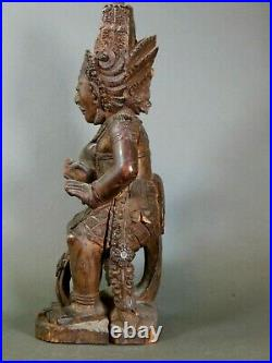 Balineses Demon Keris Holder Vintage Excellent Carving 17.5 Inches