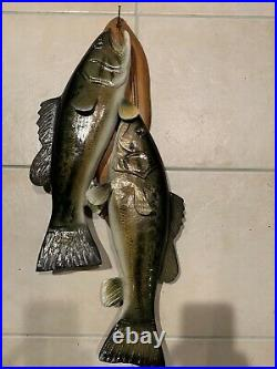 Bass Wood Carving Fish Taxidermy Vintage Fish Decoy Casey Edwards