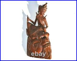 Beautiful Hand Carved Cambodian/indonesian/thailand Goddess Wooden Sculpture