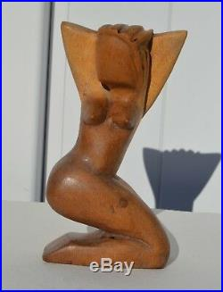 Beautiful Vintage Abstract Wood/wooden Nude Sculpture Pablo Picaso Style