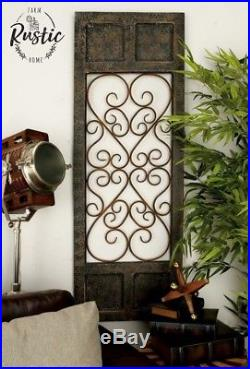 Black Metal Wood Wall Panel Antique Vintage Rustic Chic Industrial Unique Decor