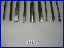 Buck Bros Vintage Set of 15 8 Wood Carving Chisels / Gouges Sharpened Nice Cond