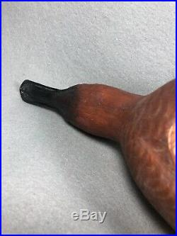 Cinnamon Teal Hand Carved Wood Carving Vintage Duck Decoy Helen Burns (14)