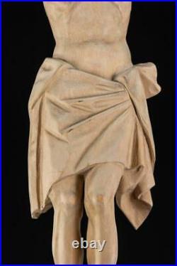 Corpus Christi Sculpture Jesus Christ Wooden Statue Vintage Wood Carving 20