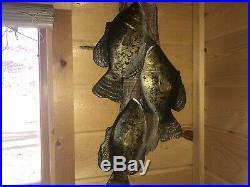 Crappie School Wood Carving Fish Taxidermy Vintage Fish Decoy Casey Edwards