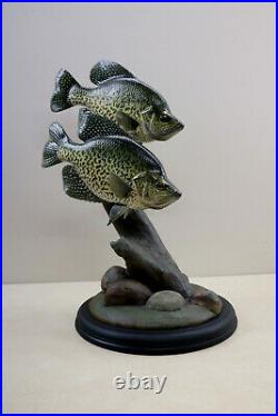 Crappie Wood Carving Fish By Bob Berry Signed / Dated Taxidermy Fish Display