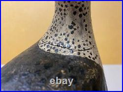 Curlew Shorebird Decoy Carving, Initials Nk, Glass Eyes, Wood Bill, withStand