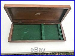 Cutco Deluxe Carving Set Presentation Box Wood Case Rare Vintage HTF 8 Etched
