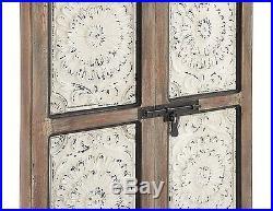 Decorative Rustic Distressed Antique Vintage Wood Iron Door Panel Wall Art Decor