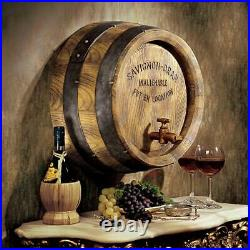 Design Toscano French Wine Barrel Wall Sculpture
