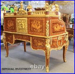 Desk Baroque Style Desk With Bronze Sculptures #mb48