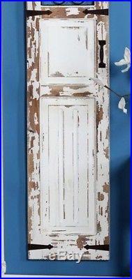 Distressed Vintage Rustic Scrolling Wood Metal Garden Gate Door Wall Panel Decor