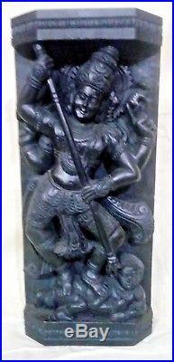 Durga Kali Devi Temple Vintage Wall Panel Hindu Temple sculpture Statue Rare