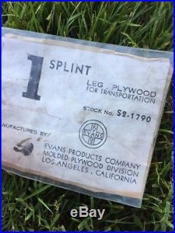 EAMES Charles Ray Leg Splint Rosewood Sculpture Vintage Modern Decorative 40s