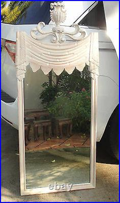 ELEGANT 40s GROSFELD HOUSE HOLLYWOOD REGENCY DRAPED STAR NIGHT SCULPTURED MIRROR