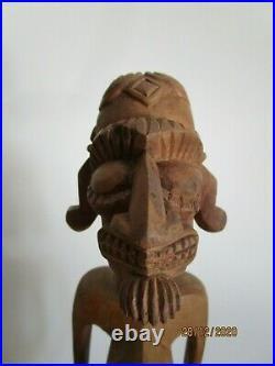 Easter Island Vintage Kavakava Moai Wood Carving