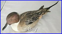 Ed Snyder Pintail Decoy Wood Carving 1985
