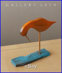 Epic! MID Century Modern Wood Bird Sculpture! Eames Era Vtg 50s Sandpiper Art