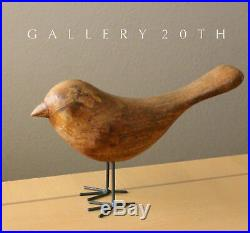 Epic! MID Century Modern Wood Bird Sculpture! Vtg 1950s Plovers Art Minimalist