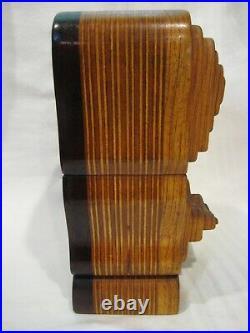 Fantastic Bob Ameri Large Hand Made Vintage Inlaid Wood Puzzle Art Sculpture