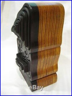 Fantastic Large Hand Made Vintage Inlaid Wood Puzzle Art Sculpture