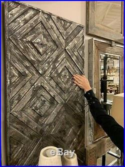 Farmhouse Restoration Decor 48 Aged Raised Recessed Design Wood Wall Art Panel