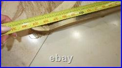 French Vintage Ciel De Lit Canopy 4 Bed Carving French 7.5 Fringe Wood Pediment