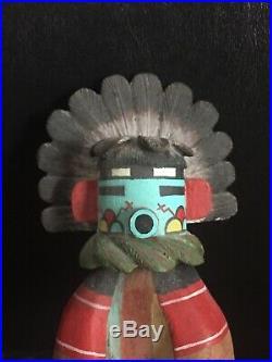 HOPI 9 Kachina Doll Wood Sculpture Figurine Signed by B. Namoki Vtg