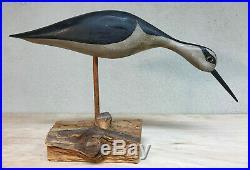 HV Shourds Decoy Carved Shorebird wood carving
