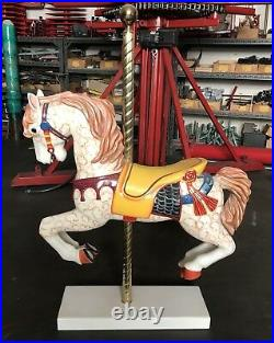 Hand Carved Vintage Solid Wood Carousel Horse Used On A Merry Go Around By S&S